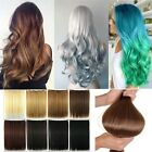 Long Wavy Straight 3/4 Full head Clip in Ombre Hair extensions multi shades Q2J