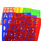 6 Design Plastic Alphabet Letter Drawing Template Stencils Board Kids DIY Set