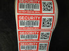 Security do not break seal labels-  tamper evident stickers 70mm x 30mm RED QR
