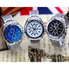 Fashion Stainless Steel Band Watch Sport Analog Quartz Men's Wrist Watch Fad