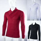 Korean Men Stylish Tops Slim Casual T-shirts Polo Shirt Long Sleeve Tee Fashion