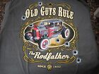 Rodfather 32 Ford Gangster streetrod Old Guys Rule gray t shirt tee M L XL 2X 3X