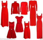 Ladies Christmas Buckle Swing Diamante Maxi Dress Gown Skater Top Plus Size