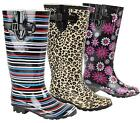 NEW LADIES WALKING WATERPROOF WELLIES RAIN FESTIVAL WELLINGTON WINTER SNOW BOOTS