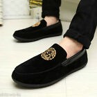 Men's Suede Casual Lace Slip On Loafer Shoes Moccasins Driving ShoesEU43