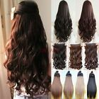 "Sexy One Piece Hair Extensions Width 12 Long 18-28"" Straight Curly Hairpiece"