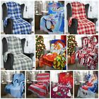 Xmas / Christmas Polar Fleece Blanket Bed / Chair Throw 127x152cms Santa Nordic