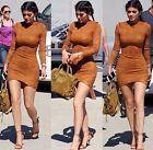 New Women Winter Long Sleeve Suede Bandage Sexy Club Bodycon Party Mini Dress