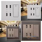 4-Ports USB Home Wall Charger Plate Outlet Panel Safety Power Supply Socket New