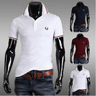 High Quality Mens Slim Fit T-shirt Short Sleeve Casual Tee Tops Size M-XXL