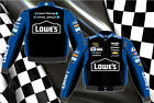 Jimmie Johnson Lowes Nascar Jacket Lowe's Racing Adult Black Blue Trim Twill