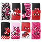 For New Smart Phones Bowknot Cartoon Lovely Case Card Wallet Stand Leather Cover