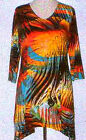 Valentina Tunic Top Multi Colored   Style  10404 1  Studed Polly NWT  Size Med