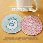 Molang Pattern Coaster Coffee Tea Drinks Cup Mat Anime Cute Kawaii Illustration