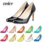 ZriEy Women's Patent Leather High Heels Lady Stiletto Party Wedding Casual Shoes