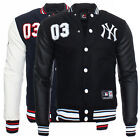 Majestic Yankees Senger Letterman Men's College Jacket Baseball New York