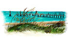 BEACHSCAPE OCEANSIDE BEACH CAPE DOCK VINYL WINDOW MIRROR DECAL STICKER ART DECOR