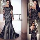 Bridesmaid Women's Lace Long Maxi Dress Evening Cocktail Wedding Ball Gown TXCL