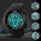 SKMEI 5ATM 3D Pedometer Countdown Timer Digital LED 2 Alarm Sports Men's Watch