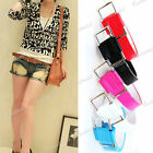100cm Girl Women Candy Color Simple Fashion PU Leather Belt Waistband Brandnew