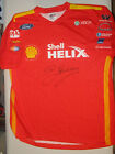 Dick Johnson hand signed Shell Helix / X-Box one T-Shirt.  Photo Proof.  COA.