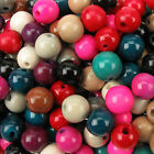 50g Wooden Spacer Round High Glossed Beads Mix Bundle- 8/10/12mm Jewellery Craft