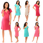 Purpless Maternity 2in1 Pregnancy and Nursing V-Neck Nightdress Nightwear 1055n