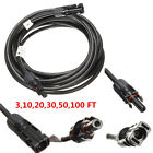 3,10,20,30,50,100 FT 4MM2 Solar Extension Cable Wire W/Male Female MC4 Connector