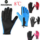 ROCKBROS Cycling Bike Windproof Bicycle Touch Screen Full Finger Long Gloves