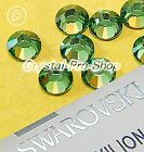 GENUINE Swarovski Erinite (360) Iron On glass crystal Flatback Hotfix Rhinestone