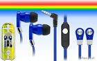 3.5mm Stereo In Ear Earbud Earphone Headset Flat Cord Cable For Samsung Phones