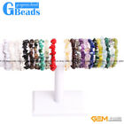 "Natural Freeform Chips Handmade Finished  Gemstone Bracelet 7 "" Free Shipping"