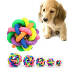 2016 Dog Puppy Pet Knot Cotton Rope knotted Rubber Sound Ball Bell Chewing Toy