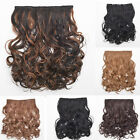 Lady Daily Full Head Hair Extension 5 Clip in on Long Wavy Synthetic Hairpiece
