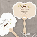 24 Personalized Love Birds Hand Fans Wedding Favors