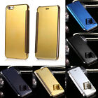 Luxury Thin Mirror Smart View Clear Hard Flip Case Cover For iPhone 5 6 6s Plus