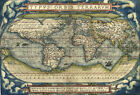 MP12 Vintage Old 1570 Typus Orbis Terrarum World Map Poster Re-Print A1 A2 A3
