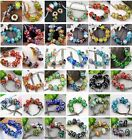 Mixed Lampwork Glass Big Hole European Beads Fit Charms Snake Chain Bracelet DIY