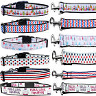 Adjustable Durable Ribbon Nylon Dog Collar And Leash