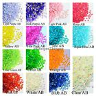 1000 Jelly AB Flatback Resin Rhinestones Candy Cabs 2/3/4/5/mm or 200 6mm Bling