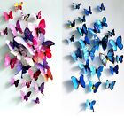 12PCS 3D DIY Removable Vivid Art Wall Stickers Decal Mural Home Room Decor #ym