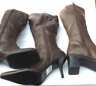 NEW LEATHER BOOTS BROWN LINED KNEE LENGTH RIDING CASUAL BOOTS EBAYS BEST SELLER