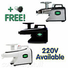 Green Star ELITE GSE-5000 Juicer - WHITE, BLACK (GSE-5010) or CHROME (GSE-5050)