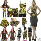 New Ladies Girls Camouflage Armed Forces Fancy dress Costume and Accessories