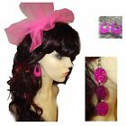 80s Alice Band Headband & Pink Sequin Earrings - 80s Pop Star Fancy Dress