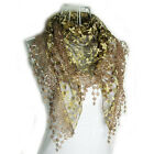 Hot Sale Summer Womens Embroidery Rose Lace Triangle Pendant Scarf Shawls Wraps