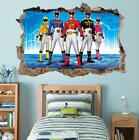 POWER RANGERS Smashed Wall Decal Removable Graphic Wall Sticker Mural H206