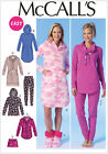 McCall's 7061 Sewing Pattern to MAKE Easy Stretch Nightshirt Pyjamas & Slippers