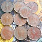 10 Coins Lot - CEYLON - ½ Cent - George V 1912-1926 Copper – 2.3 g – ø 18 mm