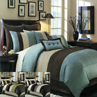Hudson Luxury 8 PC Comforter Set Includes Comforter Skirt Shams and Pillow image